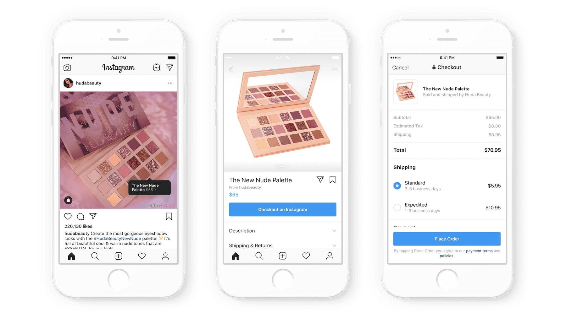 Huda Beauty is one of the 20 brands included in Instagram's beta testing | Source: Courtesy
