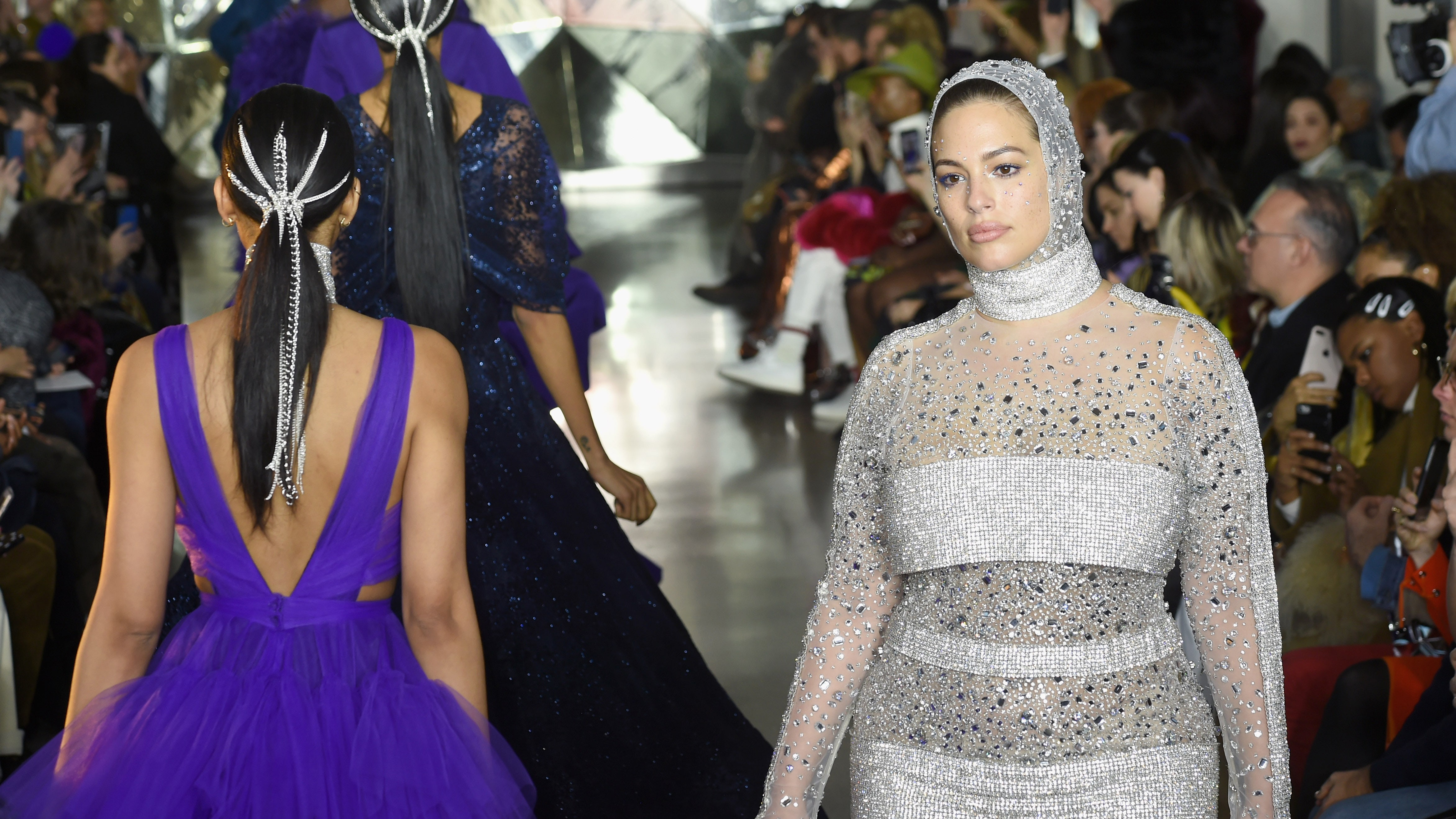 Ashley Graham at Christian Siriano | Source: Getty