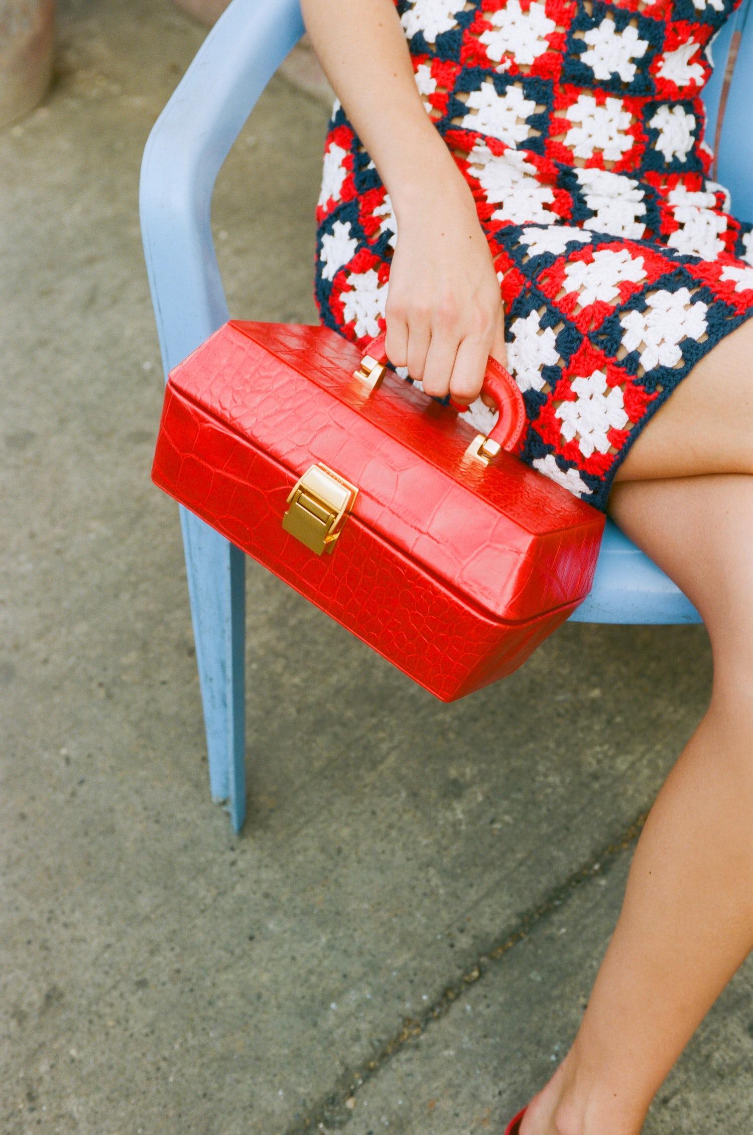 An exclusive handbag by Staud