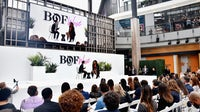 Imran Amed and Serena Williams onstage at BoF West | Source: Getty Images for The Business of Fashion