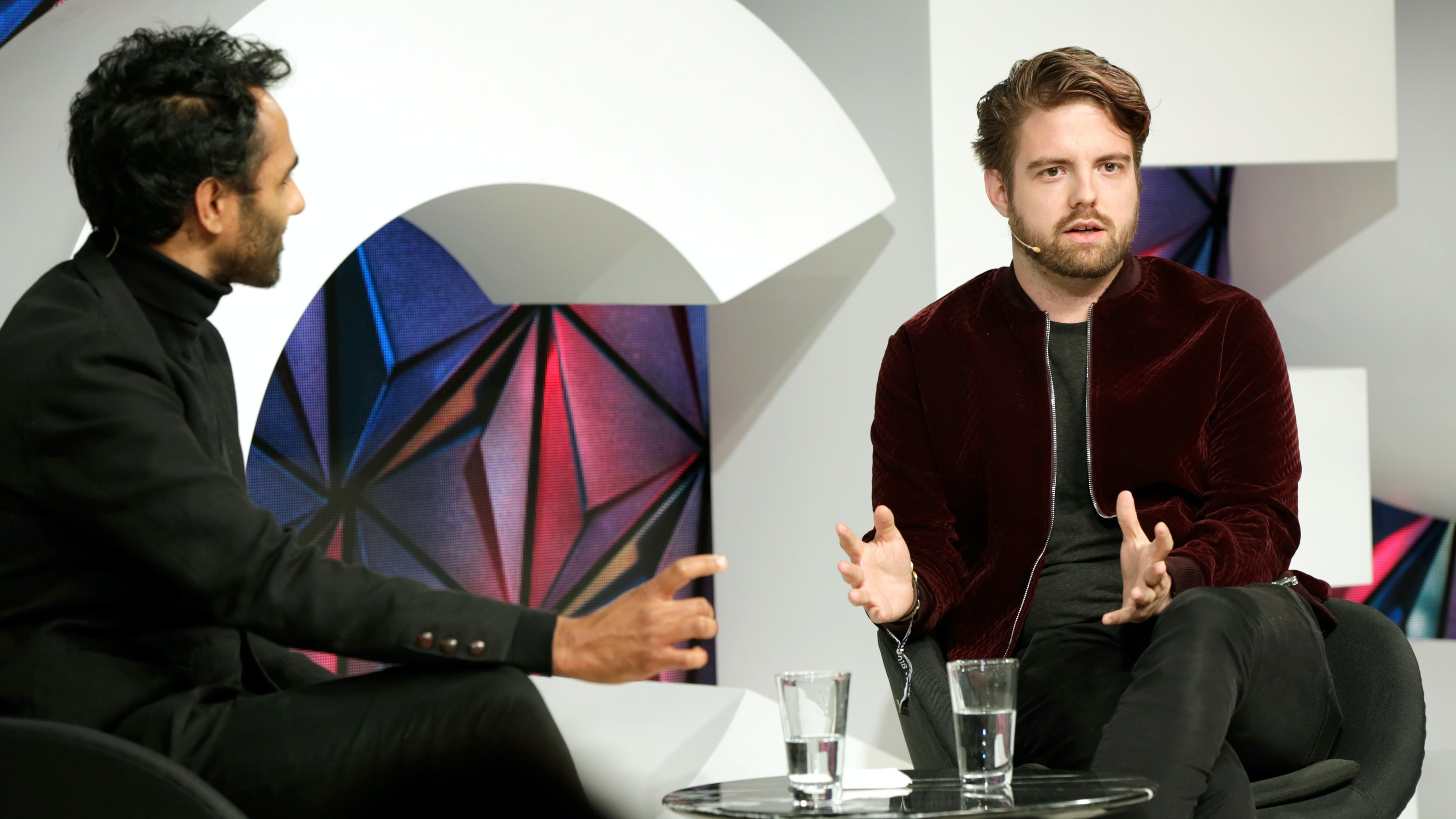 Peter Smith (Right) in conversation with Rohan Silva | Source: Getty Images for The Business of Fashion