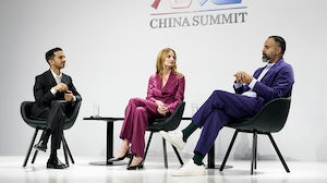 Imran Amed, Lauren Santo Domingo and Ganesh Srivats attend the BoF China Summit | Getty Images