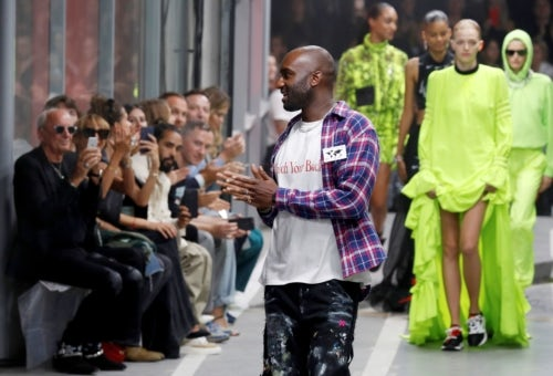 Virgil Abloh at the Off-White Spring/Summer 2019 show | Source: Getty Images
