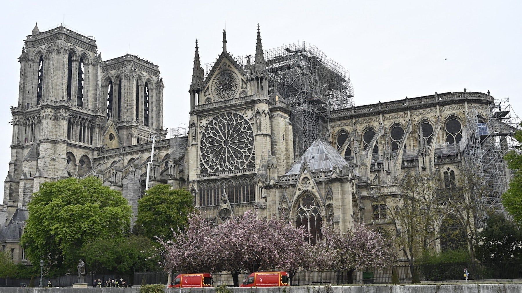 Notre Dame Cathedral Tuesday morning, the day after the fire | Source: Getty Images