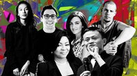 (L-R back) Alexander Wang, Neil Blumenthal, Jennifer Hyman, the late Alexander McQueen; (L-R front) Folorunsho Alakija, Jack Ma | Illustration by BoF