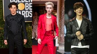 From left: Timothee Chalamet, Troye Sivan, Lu Han | Source: Getty, Shutterstock