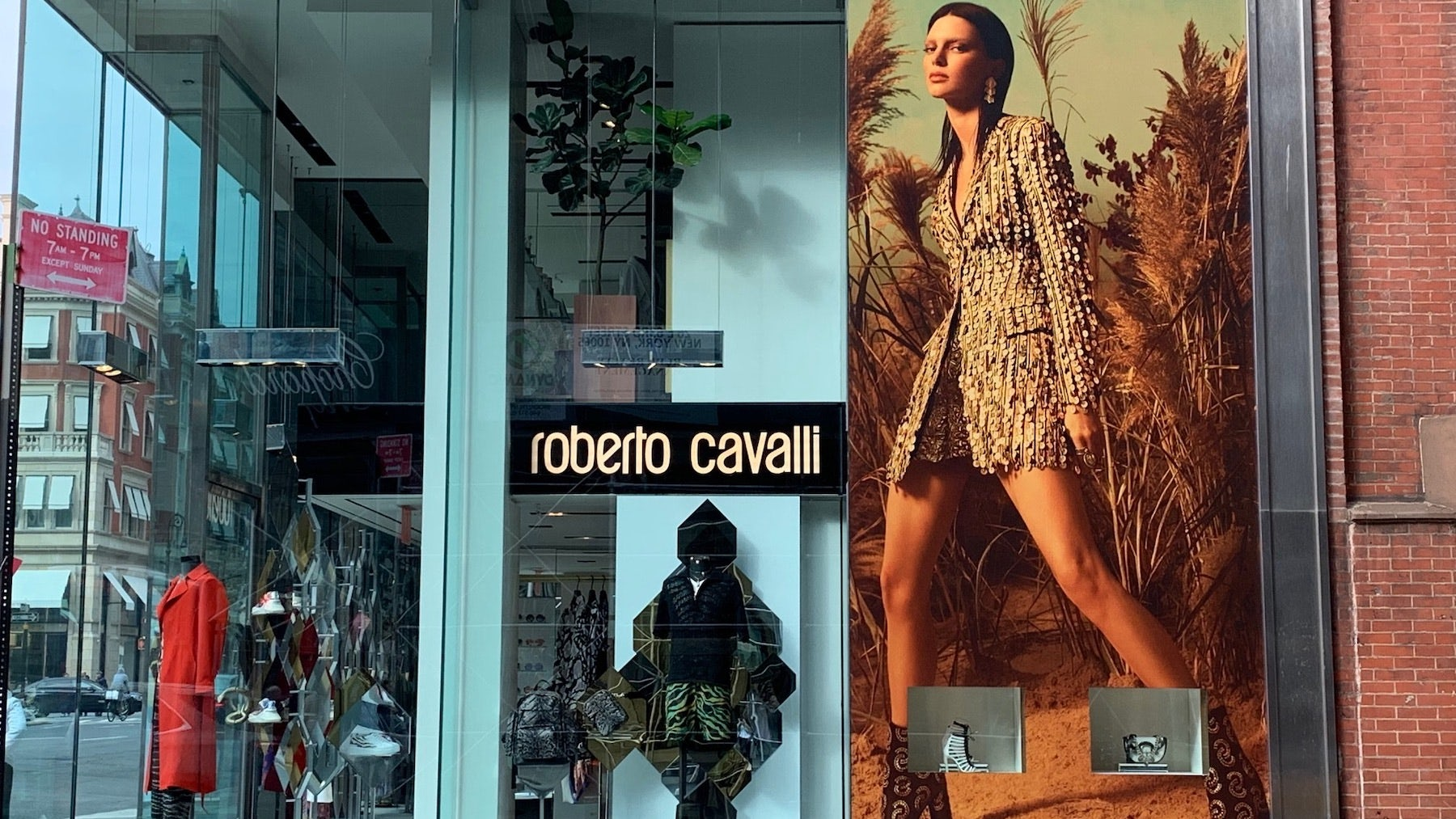 Closed Roberto Cavalli store on Madison Avenue, New York | Photo: BoF