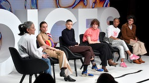 Left to right: Molly Logan, Elise By Olsen, Kai-Isaiah Jamal, Lula Ososki, Liv Little and Nicolaia Rips | Source: Getty Images for The Business of Fashion