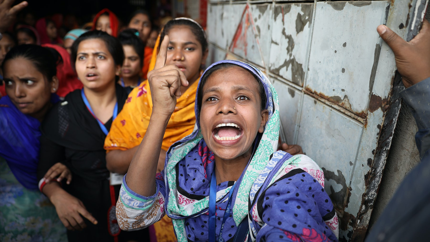 Bangladeshi garment workers protest in January | Source: Getty Images