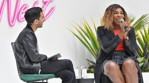 Imran Amed and Serena Williams onstage at BoF West in California | Source: Getty Images for The Business Of Fashion