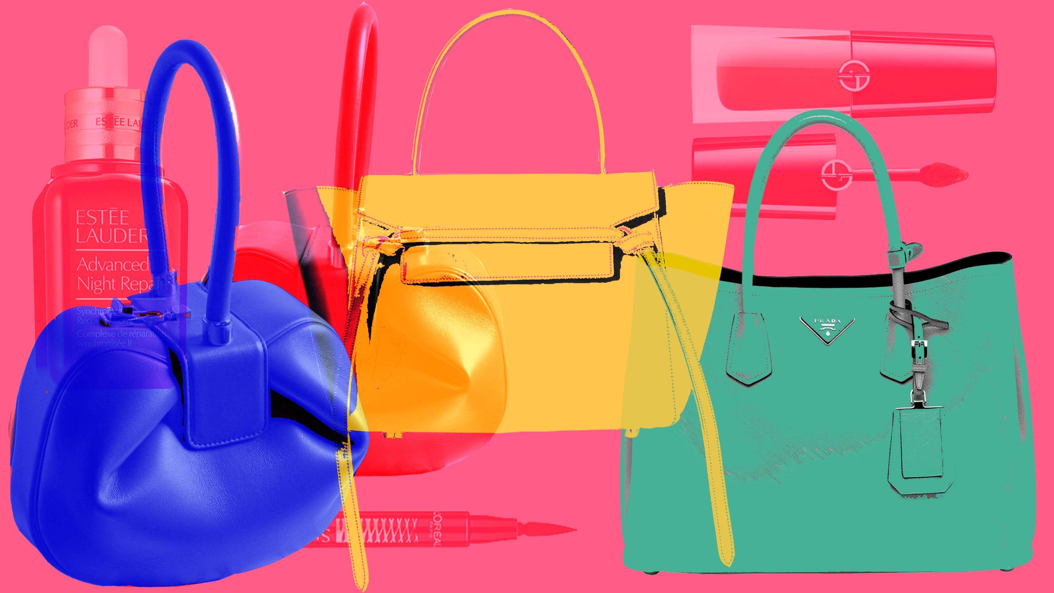 Gabriela Hearst's Nina Bag, Celine's Belt Bag, and Prada's Saffiano Bag among other nicknamed favourites   Illustration by BoF