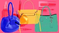 Gabriela Hearst's Nina Bag, Celine's Belt Bag, and Prada's Saffiano Bag among other nicknamed favourites | Illustration by BoF