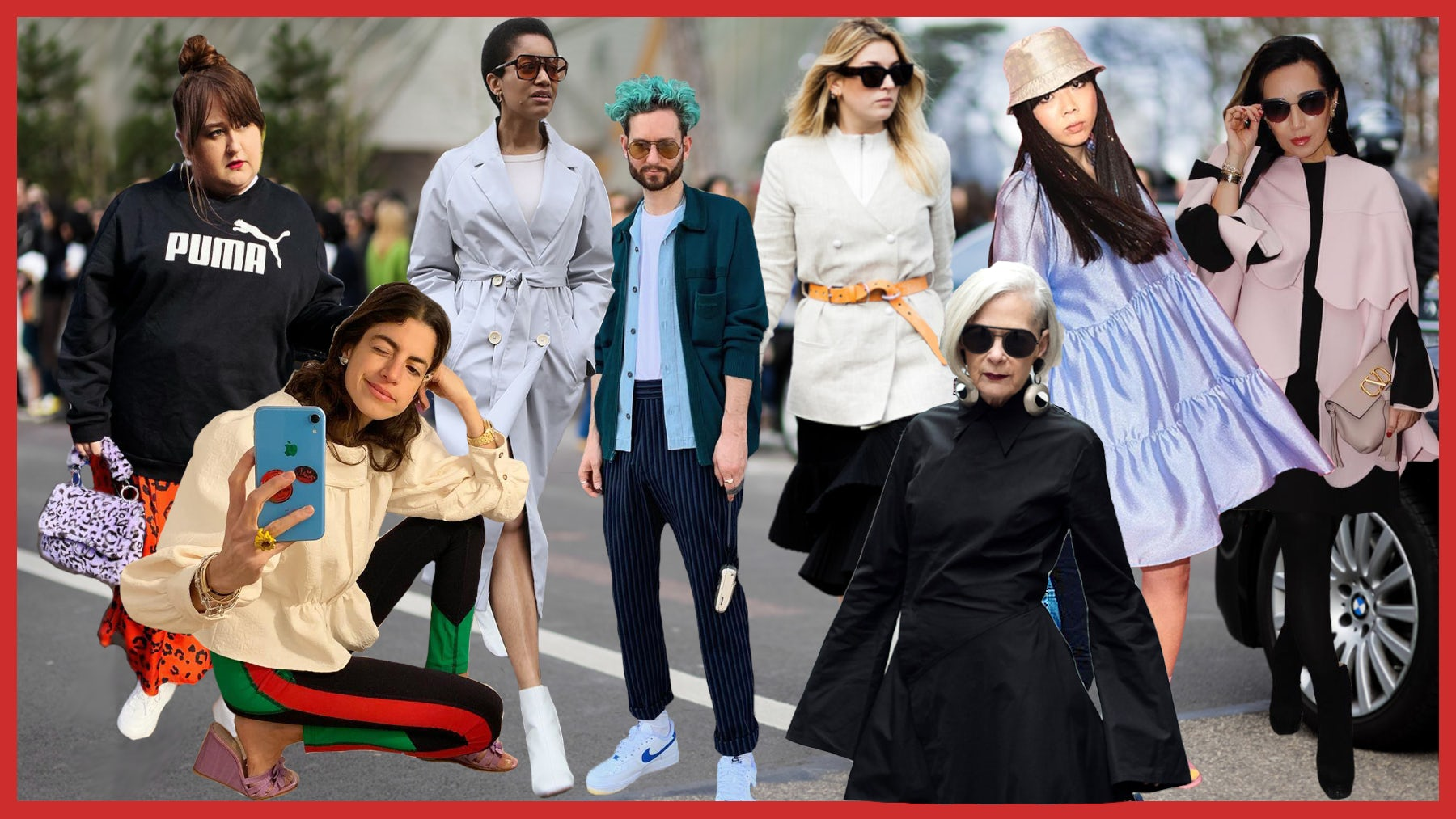 (L-R) @lottielamour, @leandramcohen, @tamumcpherson, @isaaclikes_, @camillecharriere, @iconaccidental, @susiebubble, @bagsnob | Source: Instagram, collage by BoF