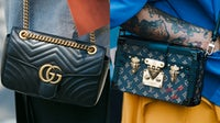 Gucci and Louis Vuitton handbags | Source: Shutterstock