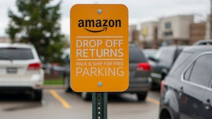 An Amazon Drop Off sign outside of a Khol's department store | Source: Shutterstock