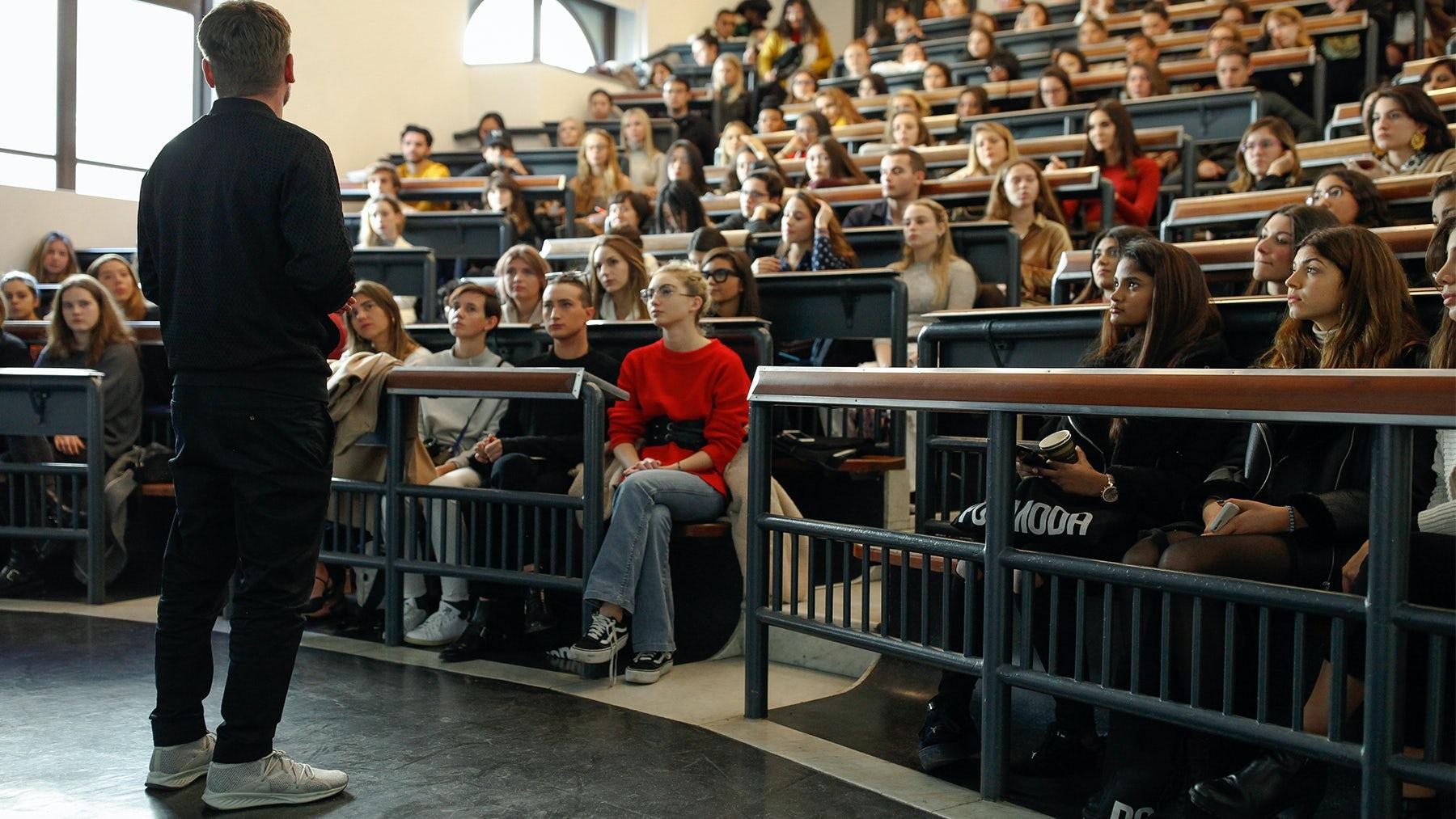 Torsten Hochstetter, Global Creative Director at Puma, teaching at Polimoda by Federica Fioravanti | Source: Courtesy