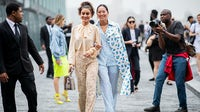 Camila Coelho and Aimee Song outside Michael Kors during New York Fashion Week Spring/Summer 2019 | Source: Getty