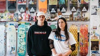Valentine Katz and Daphne Greca of Brixton's Baddest, a skate shop selling through Parade | Source: Courtesy