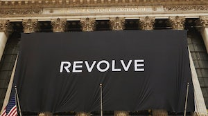 A Revolve banner outside the New York Stock Exchange | Source: Facebook