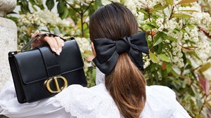 Blogger Füsun Lindner posts an image as part of Dior's Instagram campaign for the 30 Montaigne bag | Source: Instagram/@ shortstoriesandskirts