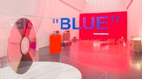 "A view of the exhibit, ""Virgil Abloh: 'Figures of Speech,'""  at MCA Chicago 