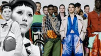 Prada's Spring/Summer 2019 campaign, and Pronounce's Spring/Summer 2020 show at Pitti Uomo | Collage by BoF