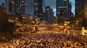 Protestors demonstrate against controversial extradition law in Hong Kong | Source: Shutterstock
