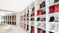 The Tamara Mellon shoe wall in Palisades Village | Photo: Courtesy