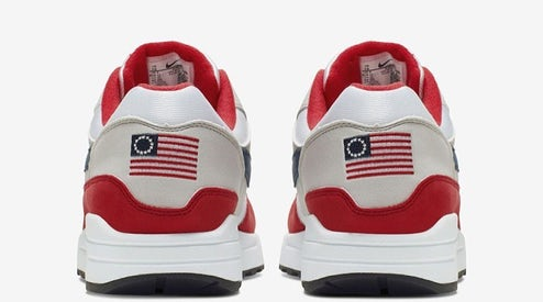 5592e2f8 Nike's Pulled 'Betsy Ross Flag' Shoes Selling for $2,500 on StockX ...