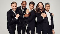 "Bobby Berk, Karamo Brown, Antoni Porowski, Jonathan Van Ness and Tan France, Queer Eye's ""Fab Five"" 