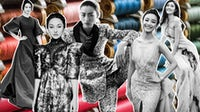 Tang Wei in Valentino Haute Couture, Zhou Xun and Liu Wen in Chanel Haute Couture, Ni Ni in Zuhair Murad Haute Couture and He Sui in Grace Chen Couture | Collage by BoF