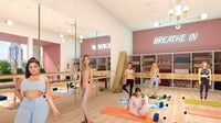 Obsess's digital yoga boutique is created via CGI. | Source: Courtesy