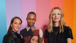 Alicia Vikander, Thebe Magugu and Delphine Arnault | Source: Courtesy