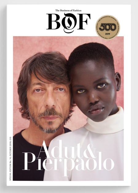 Pierpaolo Piccioli and Adut Akech | Photo by Ruth Ossai for BoF