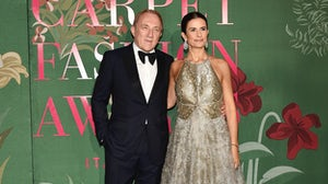 Kering Chief Executive Francois-Henri Pinault and Eco-Age Creative Director Livia Firth at The Green Carpet Fashion Awards earlier this month | Source: Getty Images