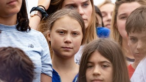 Greta Thunberg at a youth climate protest | Source: Shutterstock