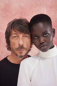 Pierpaolo Piccioli and Adut Akech | Photo: Ruth Ossai