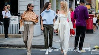 Chloe Harrouche, Erika Boldrin and Jeanette Friis Madsen during London Fashion Week in September 2019 | Source: Getty Images
