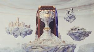 Louis Vuitton-designed trophy case | Source: League of Legends Esports