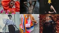 [Clockwise from top left] Instagram posts by: @carolinaherrera, @pacorabanne, @ninaricci, @driesvannoten, @carolinaherrera and @jpgaultierofficial | Source: Instagram