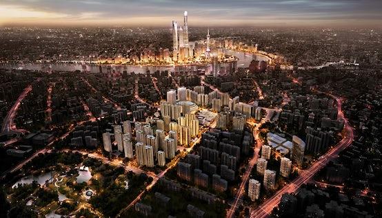 Aerial view of Rui Hong Tiandi in Shanghai's Hongkou District | Source: Courtesy