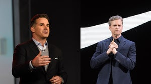 Left: Founder and chief executive of Under Armour, Kevin Plank | Right: Nike CEO, Mark Parker | Source: Getty Images