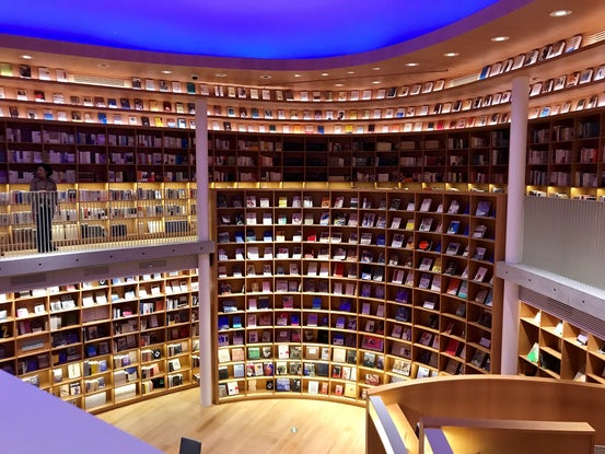 Tadao Ando designed Xinhua Bookstore in Minhang District's Aegean Place | Source: Courtesy