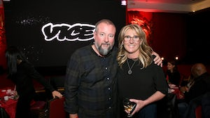 VICE Co-Founder and Executive Chairman Shane Smith and VICE CEO Nancy Dubuc | Source: Getty Images