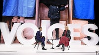 Imran Amed and Carole Cadwalladr speak during #BoFVOICES | Source: Getty Images for The Business of Fashion
