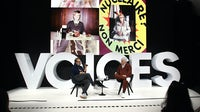 Juergen Teller and Tim Blanks in conversation during #BoFVOICES | Source: Getty Images for The Business of Fashion
