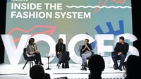 Zain Verjee, Omoyemi Akerele, Liya Kebede and Matt Liu speak during #BoFVOICES | Source: Getty Images for The Business of Fashion