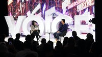 Queennie Yang and Liang Chao speak during #BoFVOICES | Source: Getty Images for The Business of Fashion