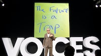 Hans Ulrich Obrist speaks during #BoFVOICES | Source: Getty Images for The Business of Fashion