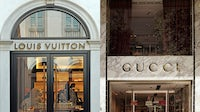 Louis Vuitton and Gucci shopfronts | Source: Shutterstock